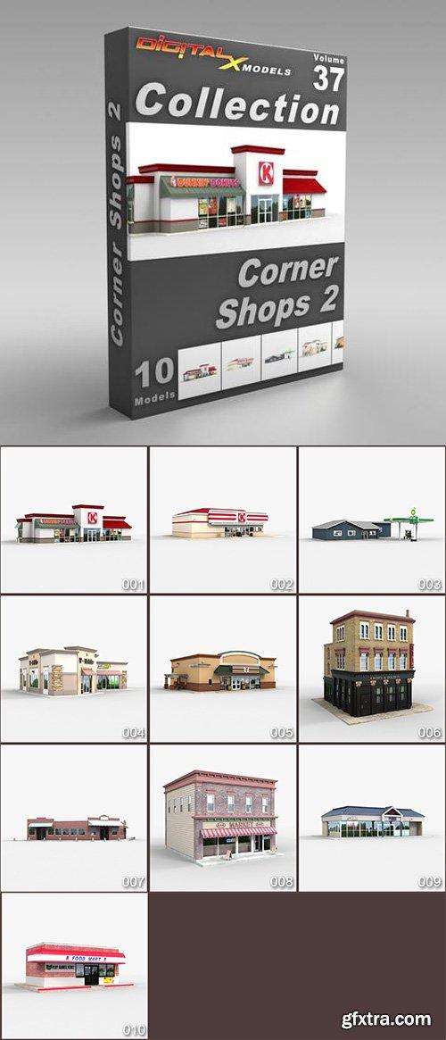 DigitalXModels - 3D Model Collection - Volume 37: CORNER SHOPS 2