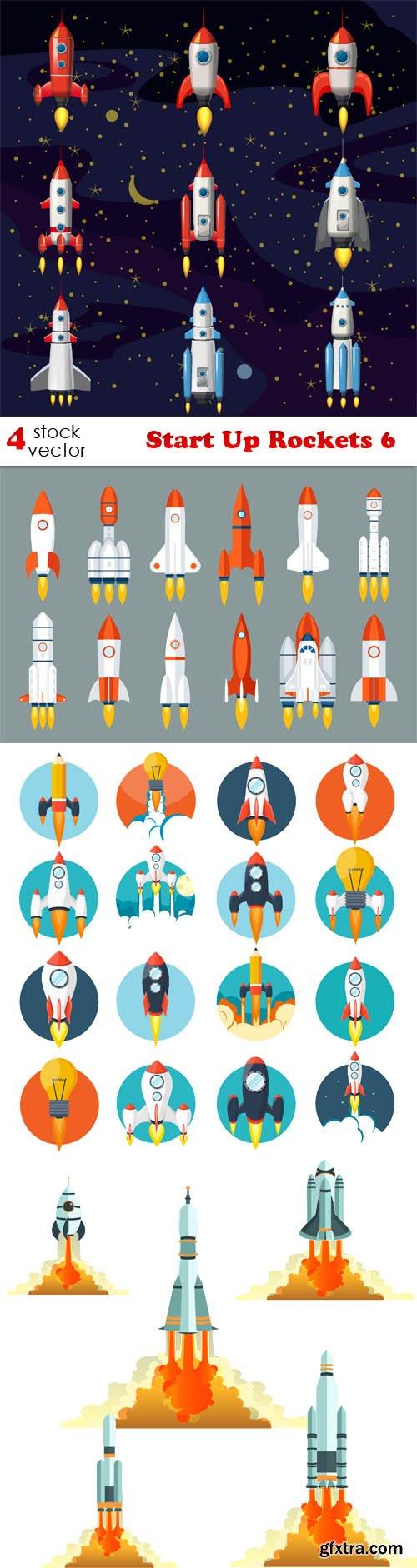 Vectors - Start Up Rockets 6
