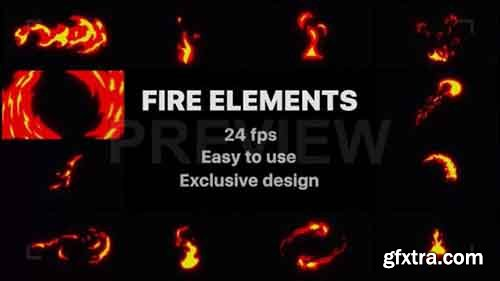 Hand-drawn Fire Elements Pack - Motion Graphics 79169