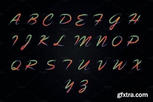 CM - Colorful Brushy Font (Rainbow Font) 2425255
