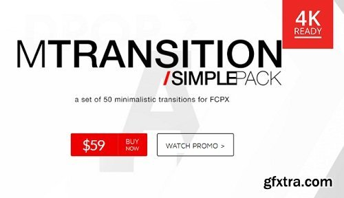 MotionVFX - mTransition Simple Pack for Final Cut Pro X macOS