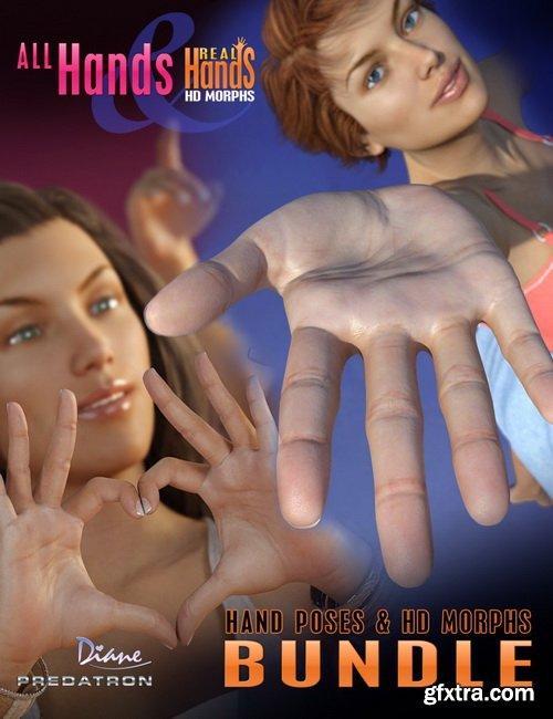 Daz3D - All Hands and Real Hands HD Bundle