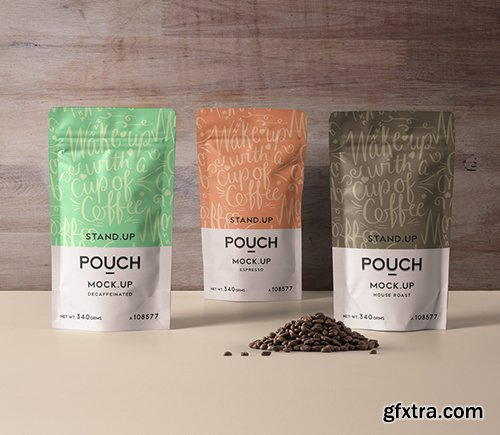 Psd Stand Up Pouch Mockup Vol 4