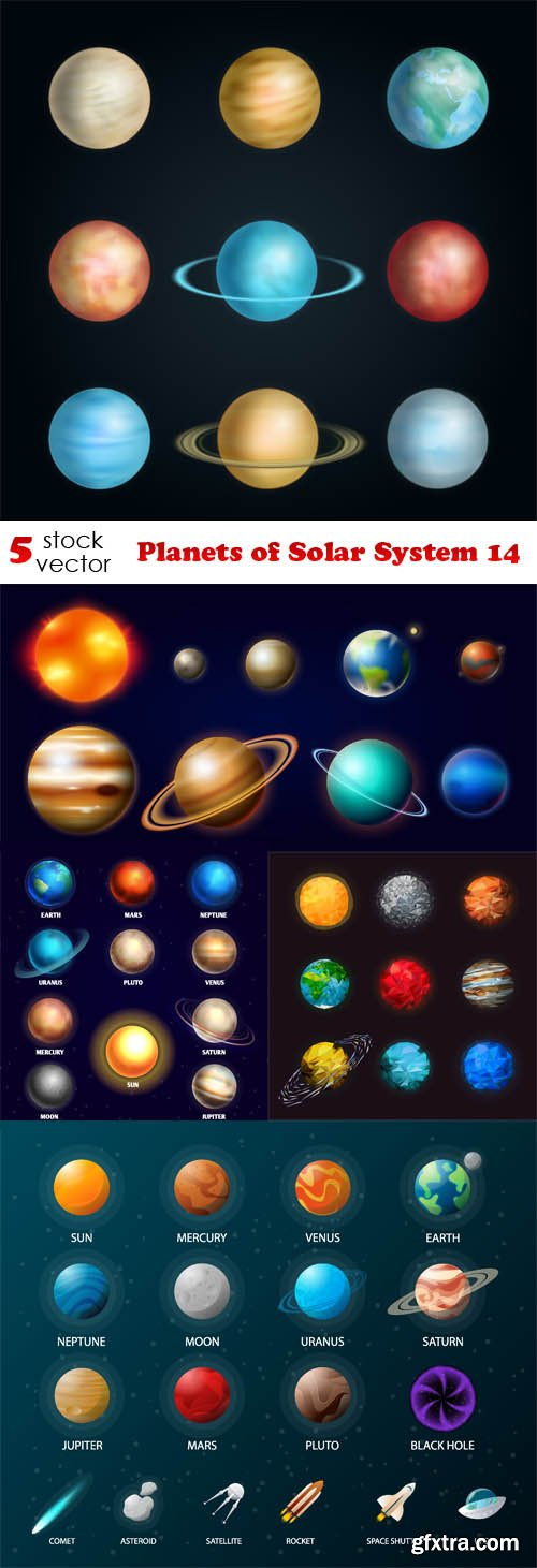 Vectors - Planets of Solar System 14