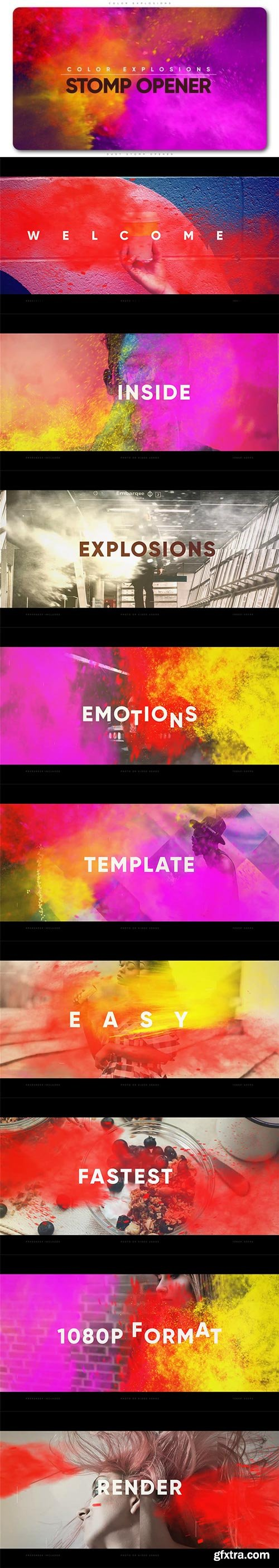 Videohive - Color Explosions Stomp Opener - 21842558