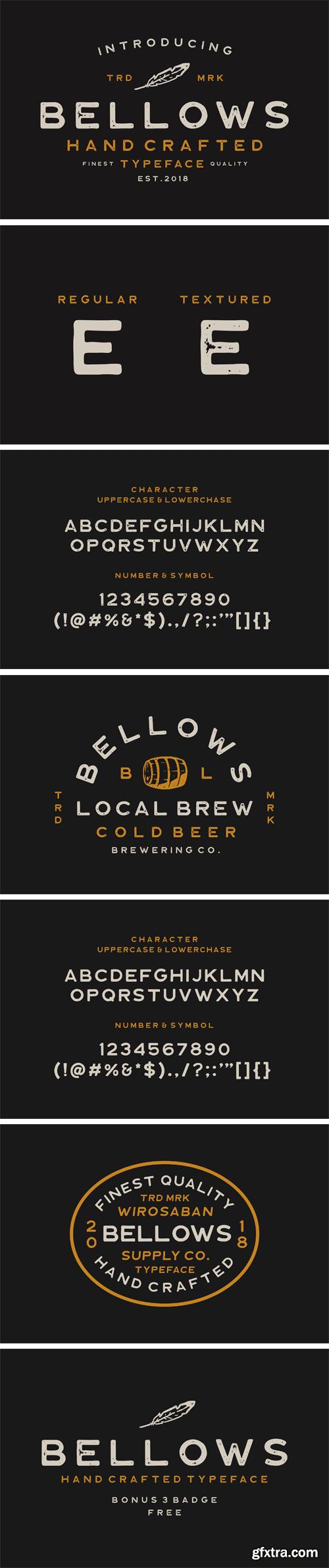 CM - Bellows Typeface 2423121