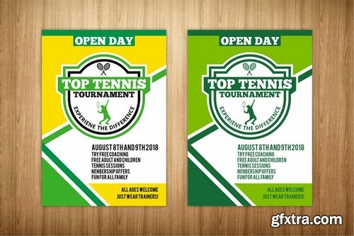 Tennis Flyer Vector Photoshop Psdafter Effects Tutorials