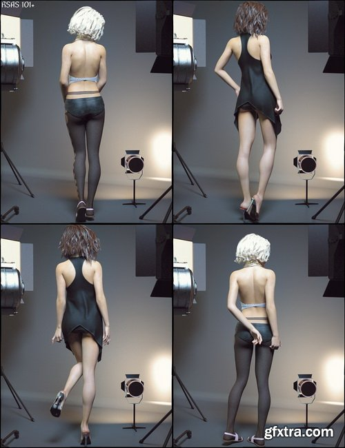 Daz3D - All Sweet Fashion Poses for Genesis 8 Female