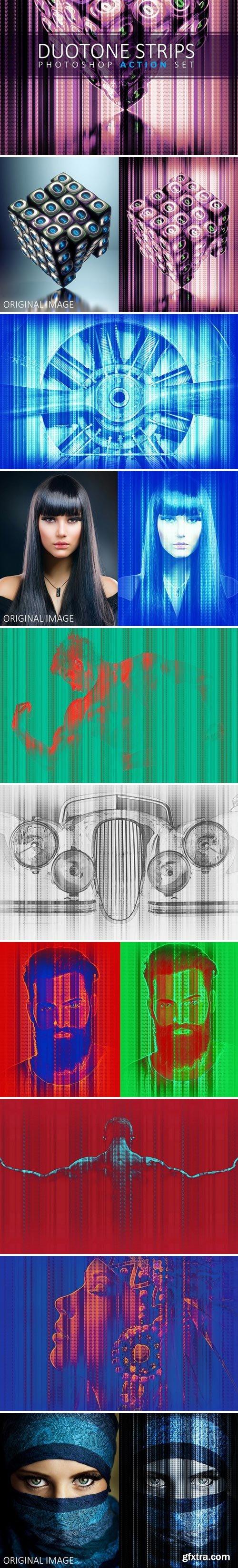 CM - Duotone Strips Photoshop Action Set 2459110
