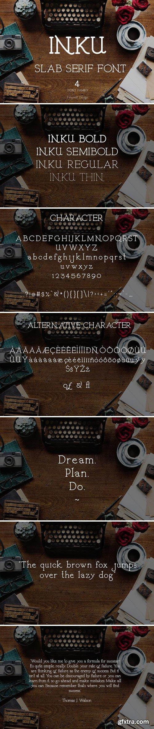 CM - Inku font ( 4 font family) 2458123