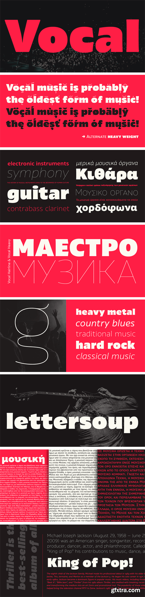 Vocal Font Family