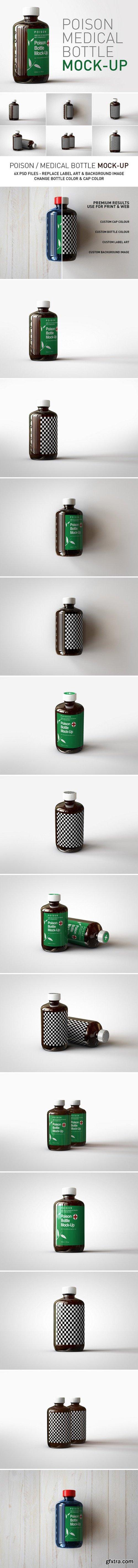 CM - Amber Poison Bottle Mock-Up 2455356