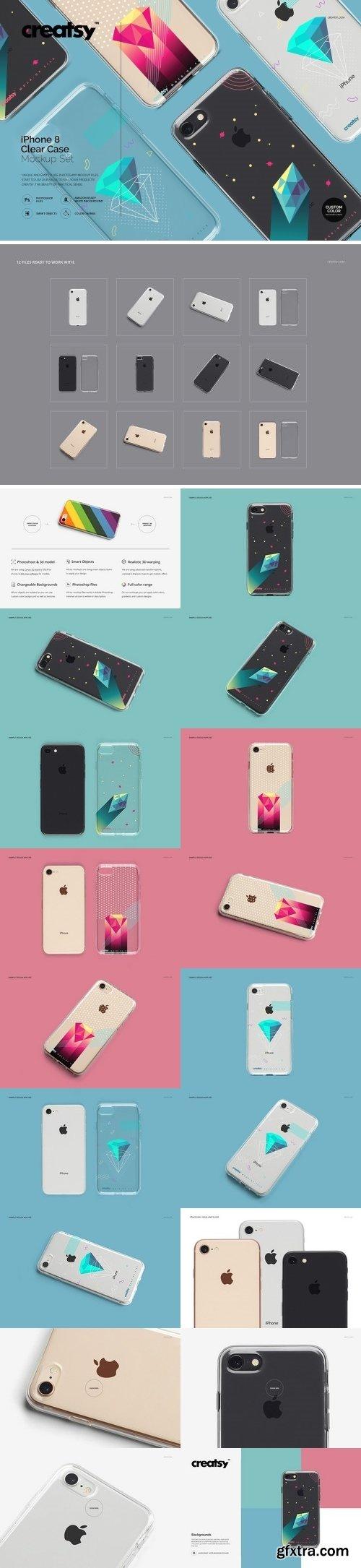 CM - iPhone 8 Clear Case Mockup Set 2170983