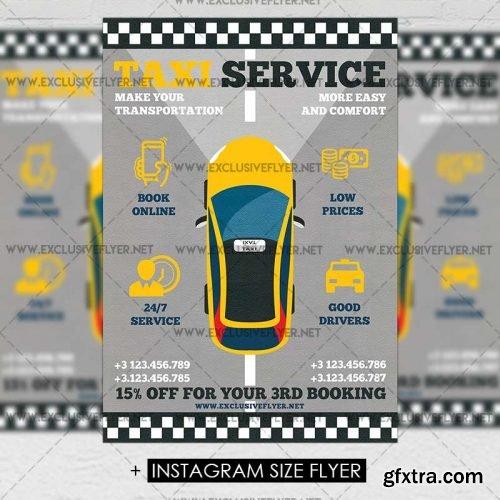 Taxi Service Premium A5 Flyer Template Vector Photoshop