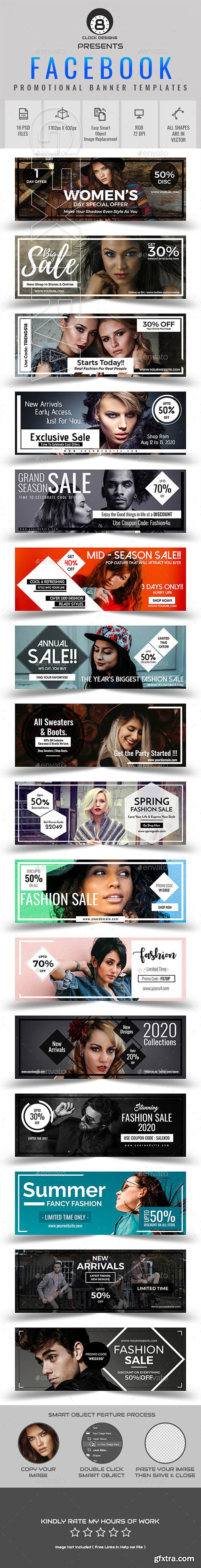 GraphicRiver - Promotional Facebook Cover Templates (16 in 1) 21921100