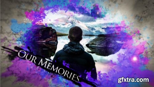Motionelements Watercolor Ink Parallax Slideshow After Effects Templates 11034629