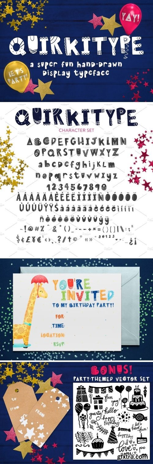 CM - Quirkitype - A Fun Display Typeface 1602568