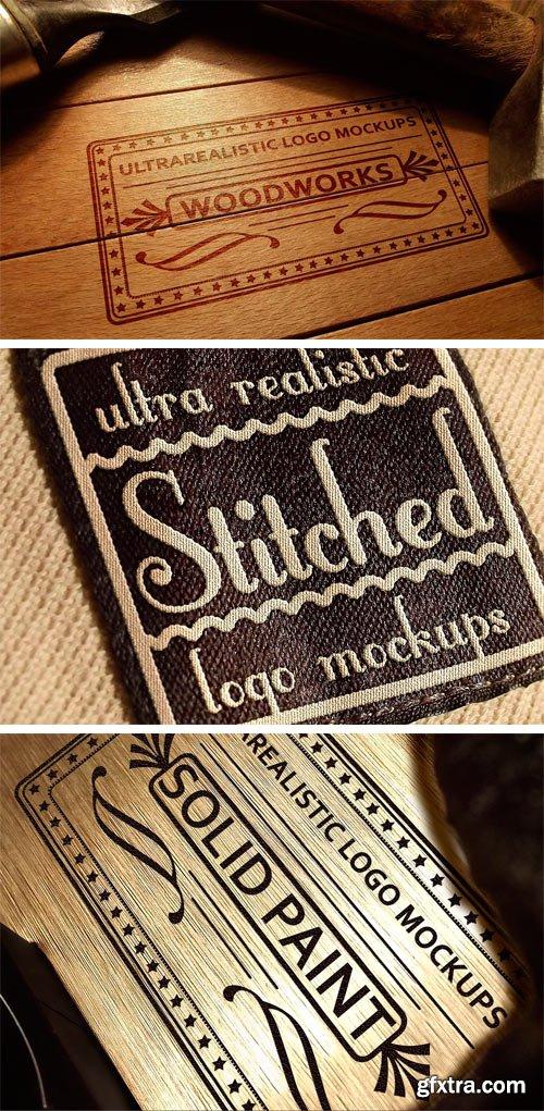 CM - Ultra Realistic Logo Mockups Mix 2396818