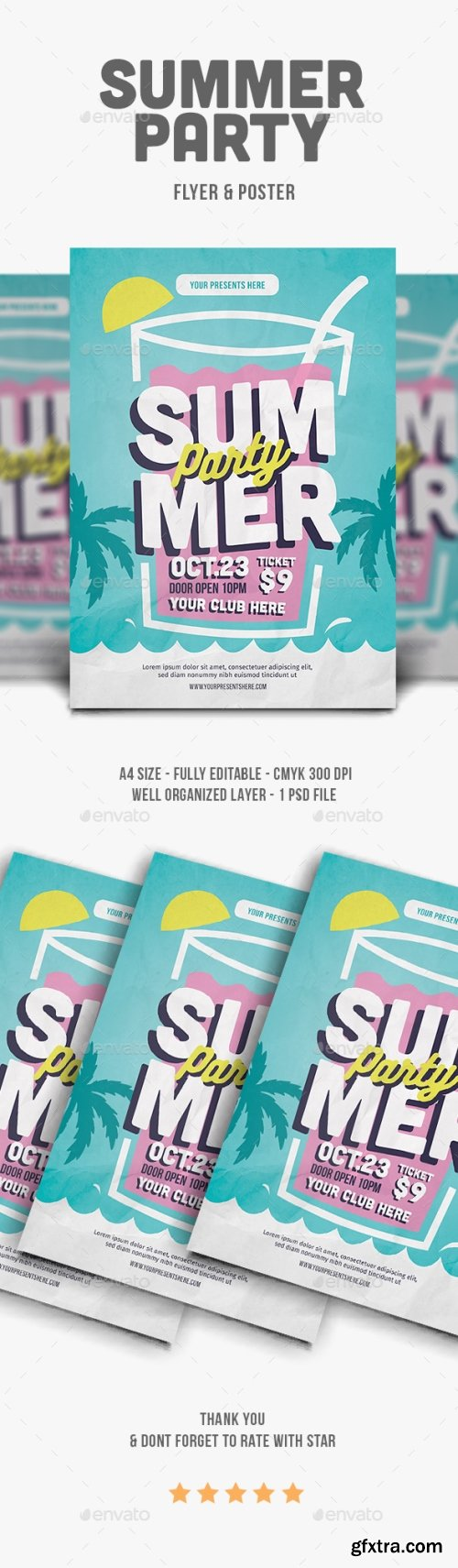 Graphicriver - Summer Party Flyer 21937299
