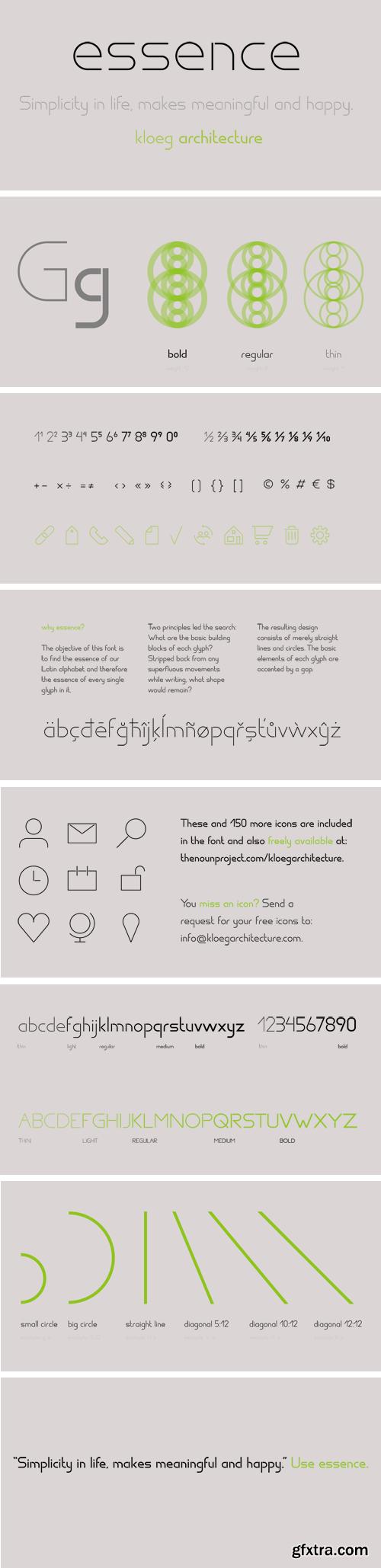 Essence Font Family