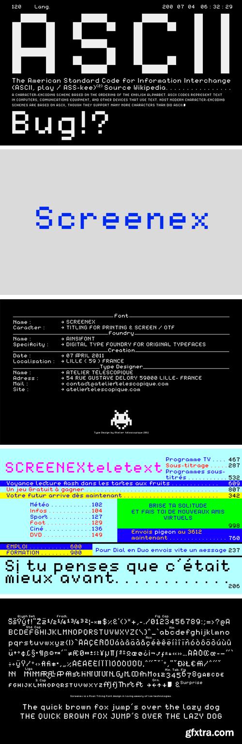 Screenex Font