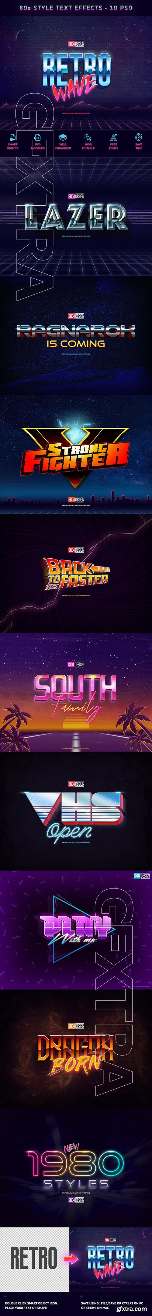GraphicRiver - 80s Text Effects - 10 PSD 21905525