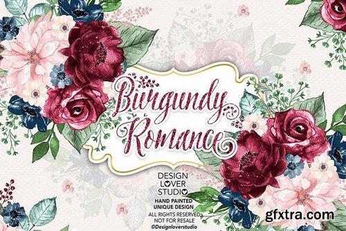 Burgundy Romance design