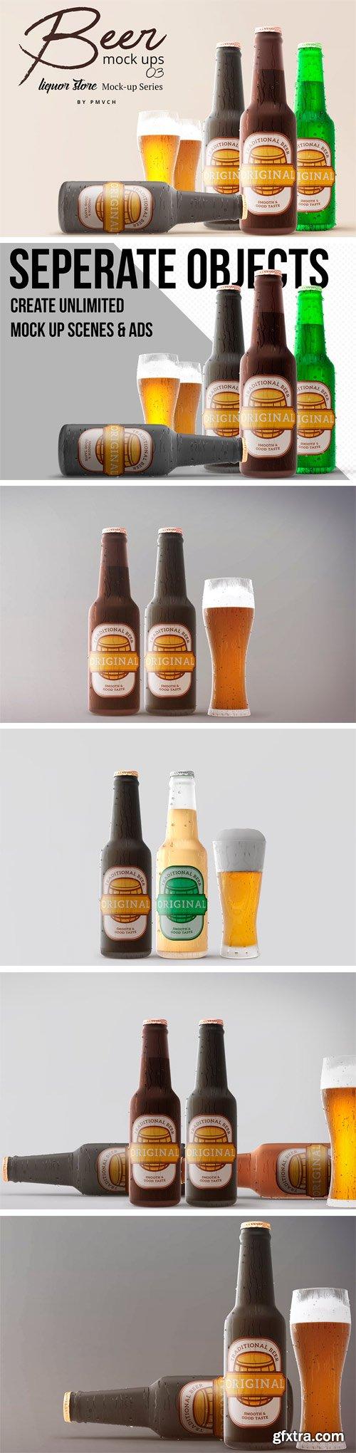 CM - Beer Mockups 03 - Cold Beer 2391551 ..