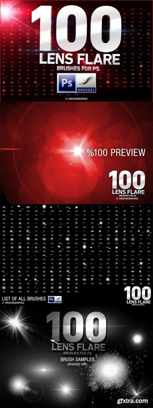 100 Lens Flare Brushes..