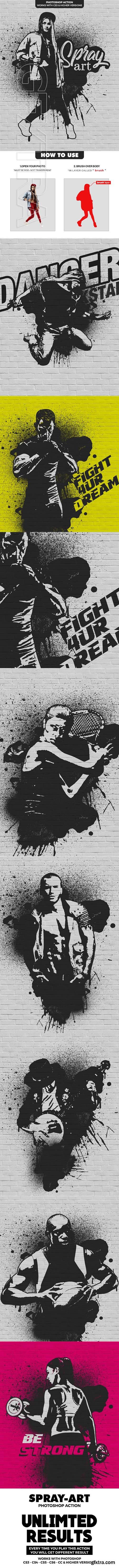 GraphicRiver - Spray Art Photoshop Action 21885362