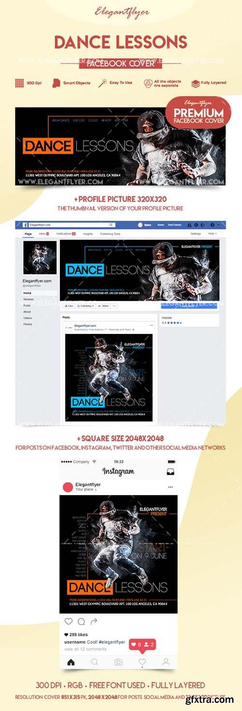 Dance Lessons - Premium Facebook Cover