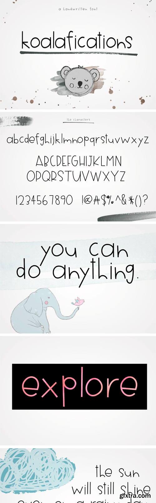 CM - Koalafications - Handwritten Font 2478126
