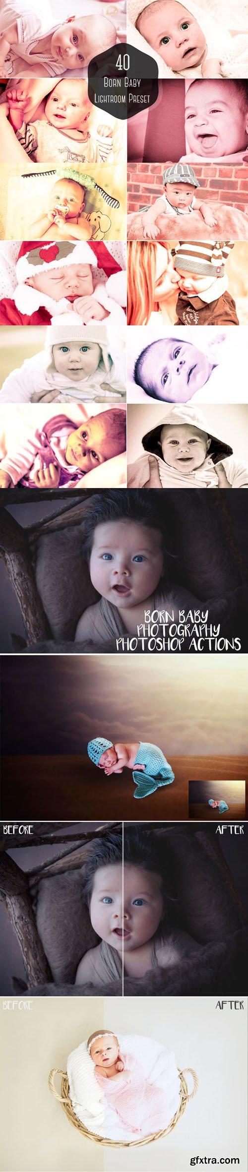 42 Born Baby Lightroom Presets & Photoshop Actions