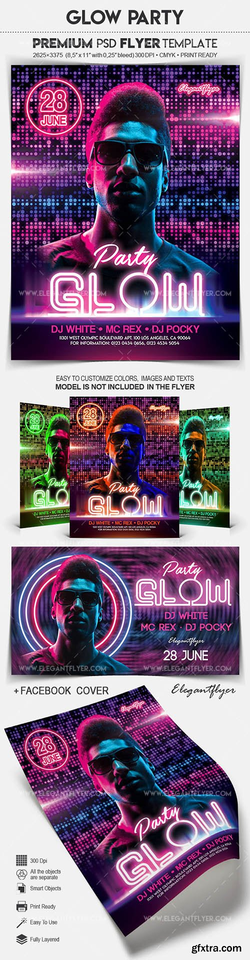 Glow Party - Flyer PSD Template