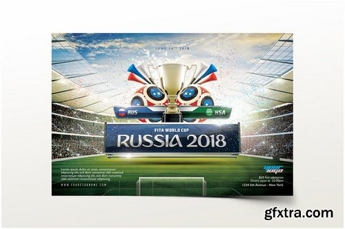 Russia 2018 Flyer Template