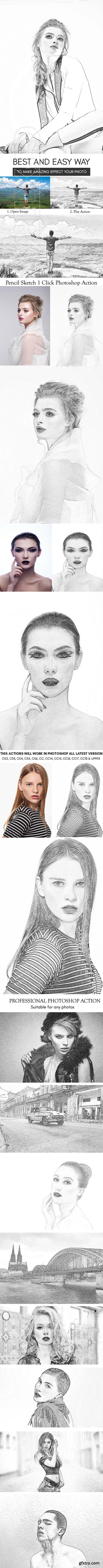 GraphicRiver - Pencil Skectch Photoshop Action 21901956