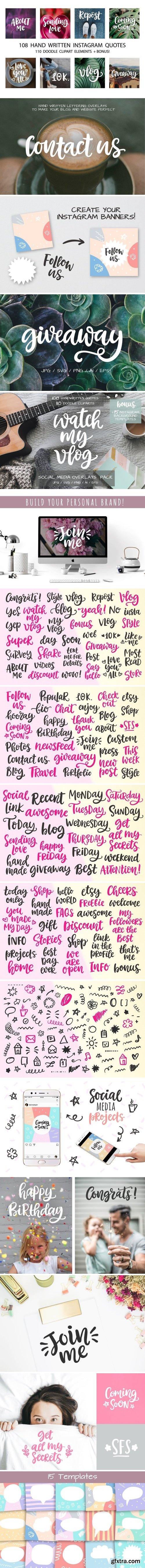 CM - Social Media Lettering Overlays Pack 2159240