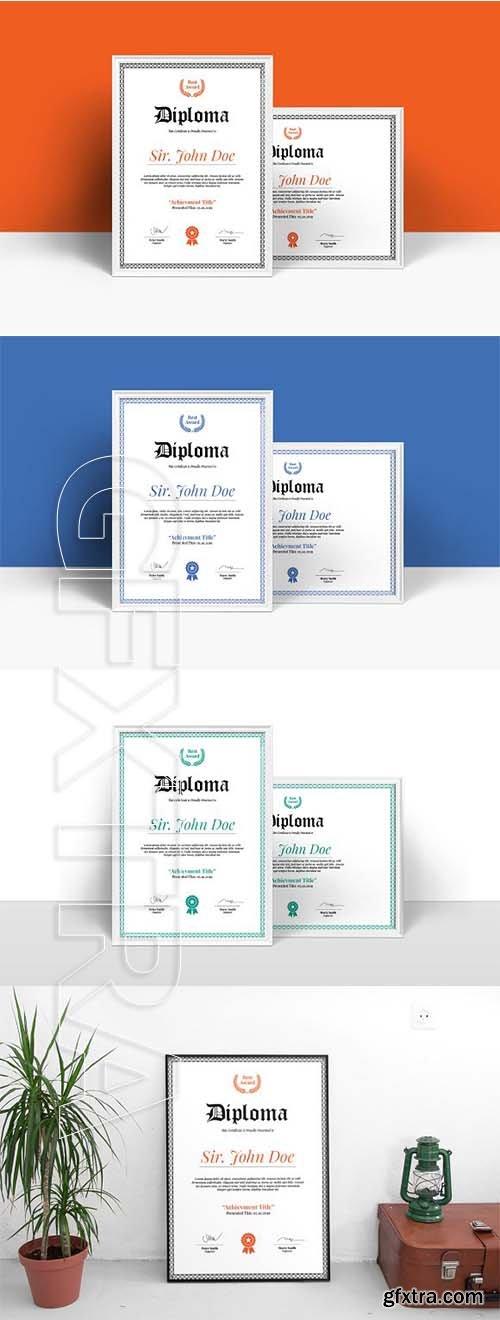 CreativeMarket - Diploma Certificate Template 2532207