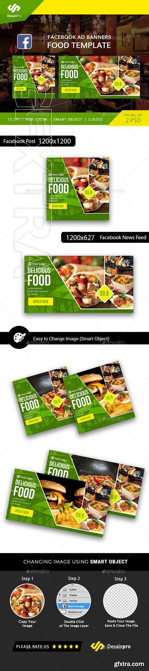 GraphicRiver - Food Business FB Ad Banner - AR 21927623
