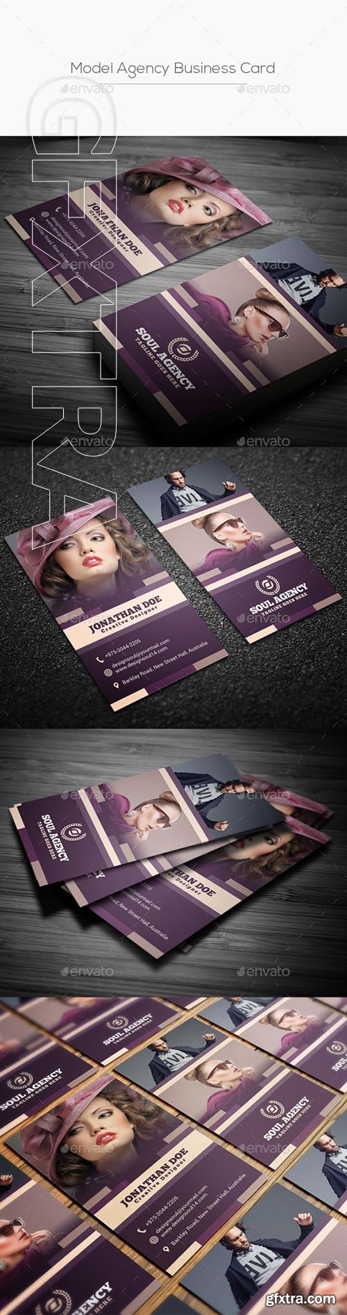 GraphicRiver - Model Agency Business Card 21895014
