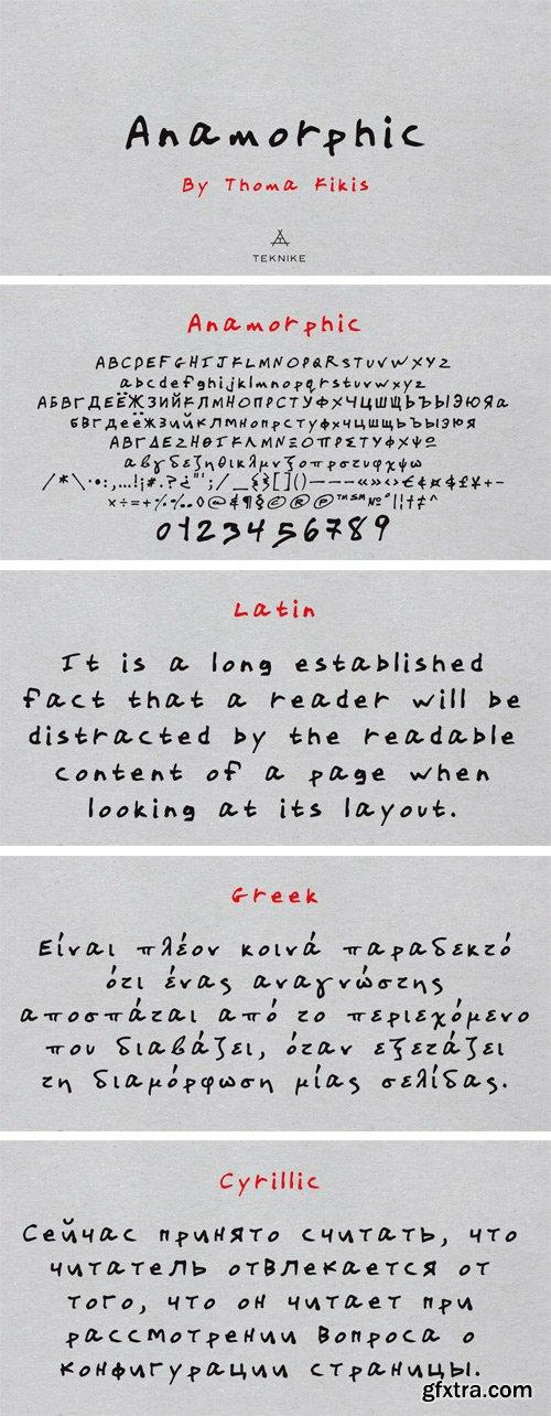 Anamorphic Font
