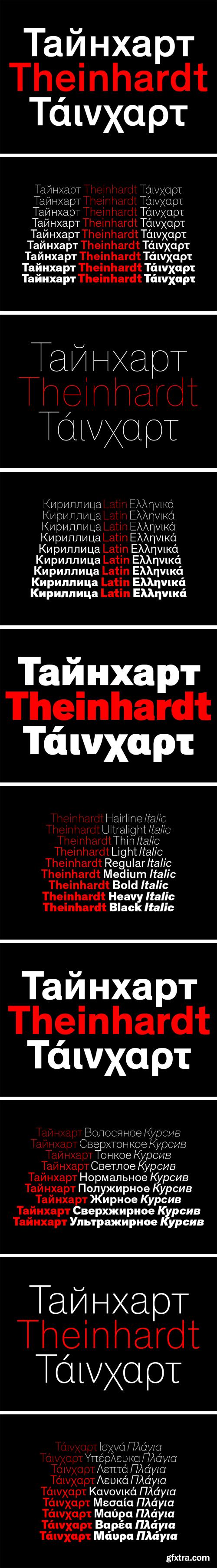Theinhardt Pan Font Family