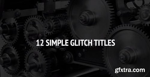 12 Simple Glitch Titles - Premiere Pro Templates 80511