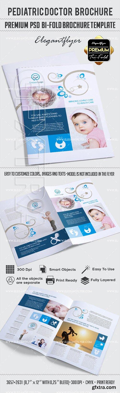 Pediatric Doctor – Bi-Fold Brochure PSD Template
