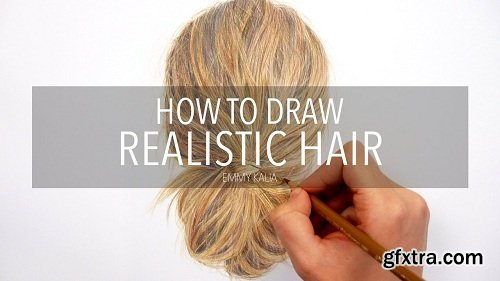 How to draw Realistic Hair with Colored Pencils