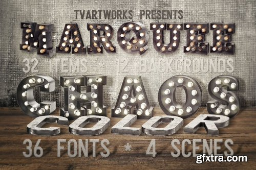 CreativeMarket Marquee Chaos View - Color Fonts 2491855