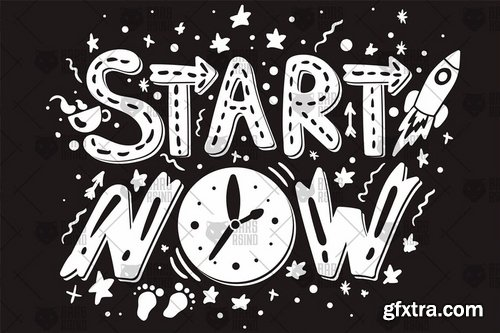 Inspirational Slogan - Start Now