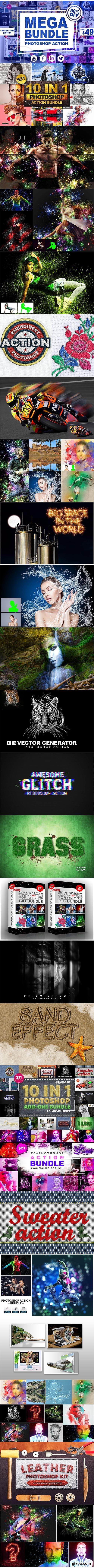 CreativeMarket - Mega Bundle Photoshop Action 2555731