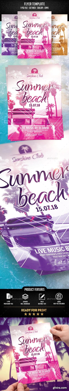Summer Beach Flyer Template 21964666