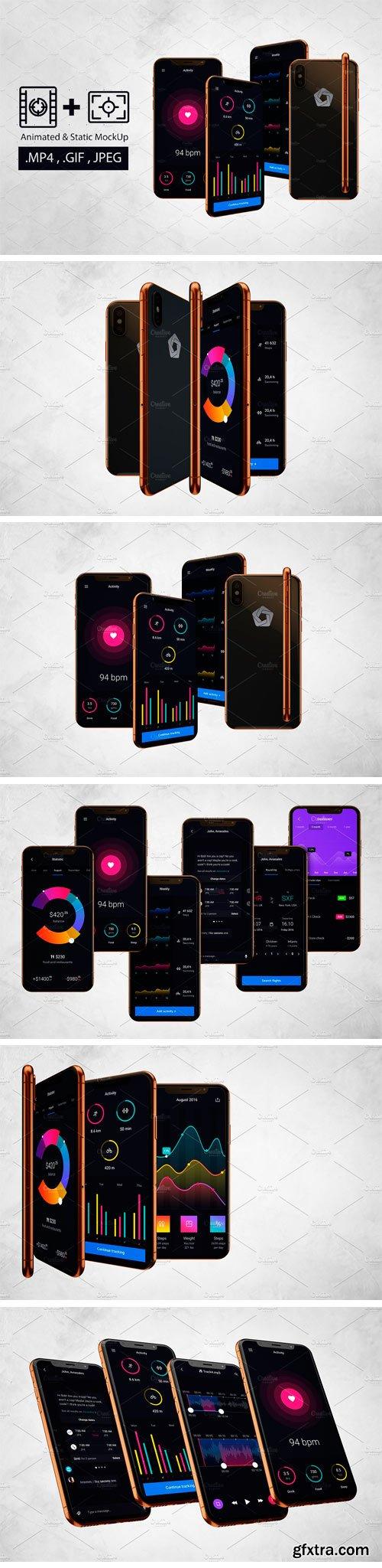CM - Animated iPhone X Mockup V.2 2481305
